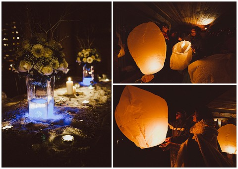sky lanterns wedding
