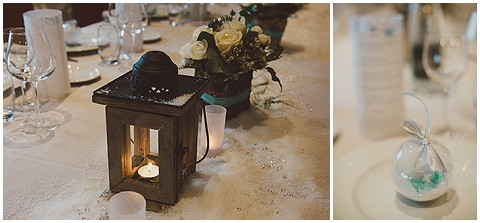 teal white wedding decorations