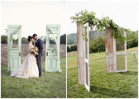 upcycling at weddings - homemade wedding