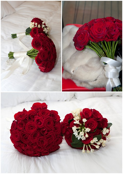 Belle Momenti red rose bouquet