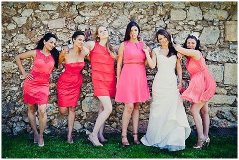 coral bridesmaid dresses2
