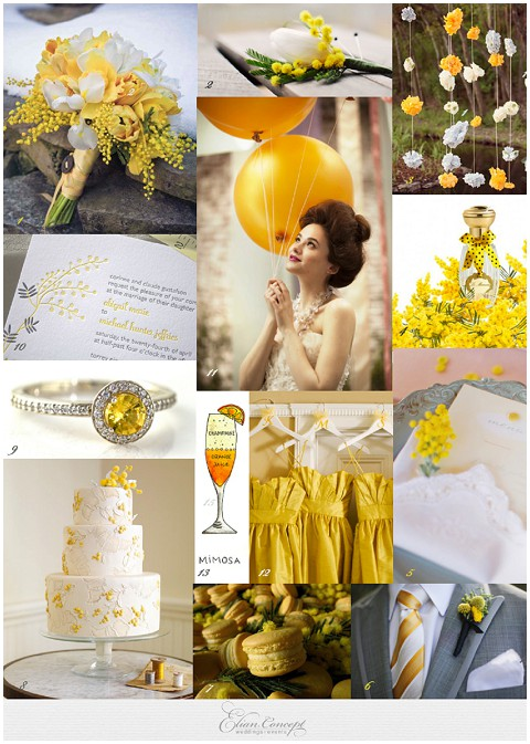sunny wedding mimosa ideas