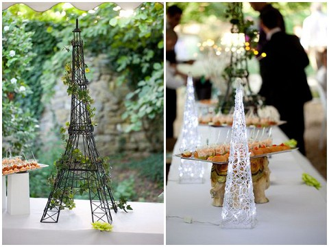 wired eiffel tower decoration
