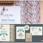 birds wedding stationery