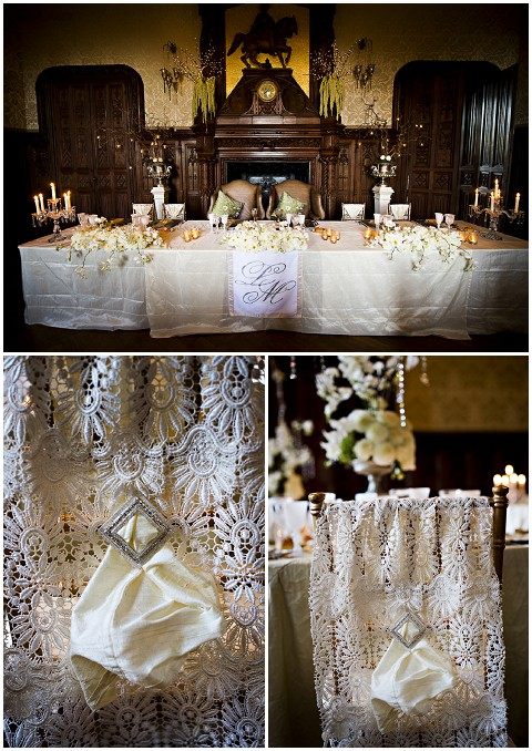lace wedding table