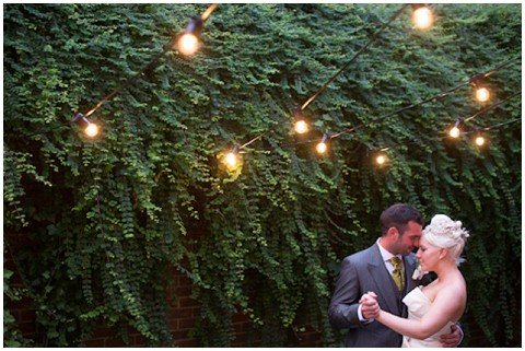 sparkly lights wedding