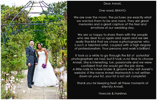 Happy clients - Harshna & Francois