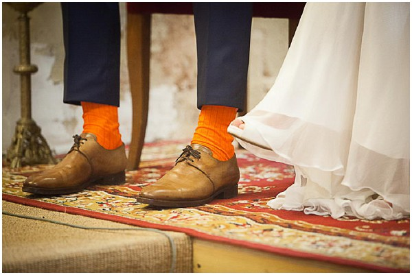 groom orange socks