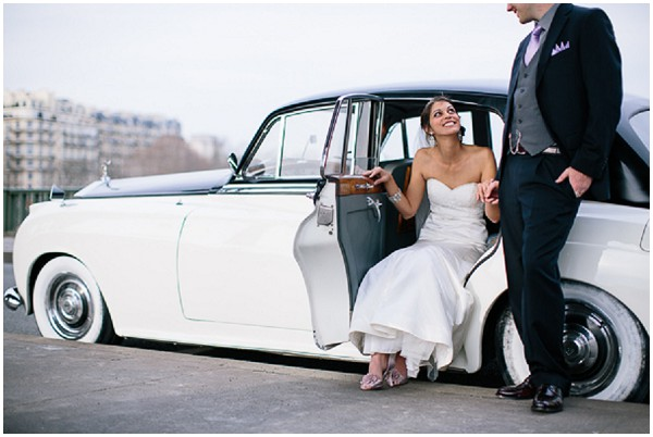 vintage rolls wedding paris