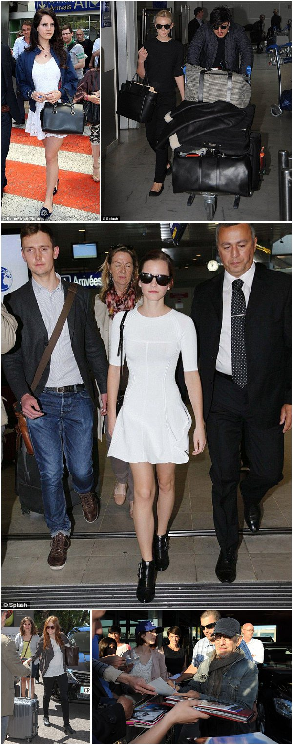 Celebrities arriving for Cannes Film Festival 2013