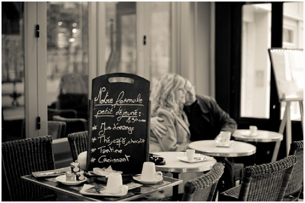 couple in paris cafe