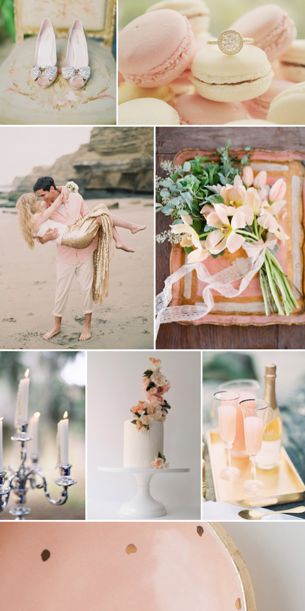 blush gold wedding inspiration