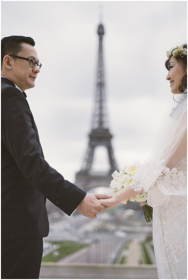 boho bride eiffel tower