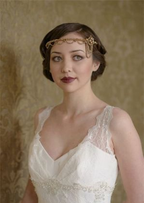 gold bridal headdress