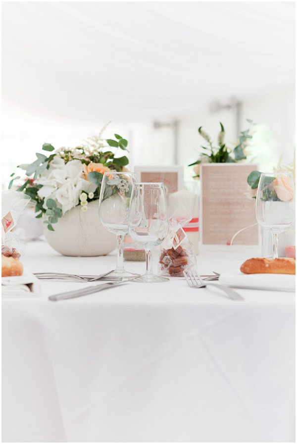 fresh wedding table