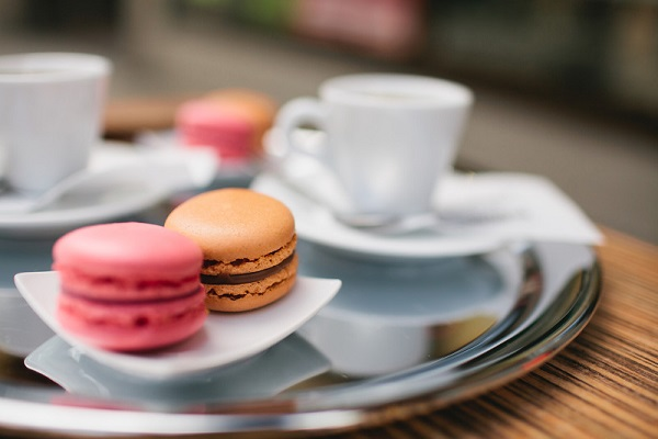 macarons coffee