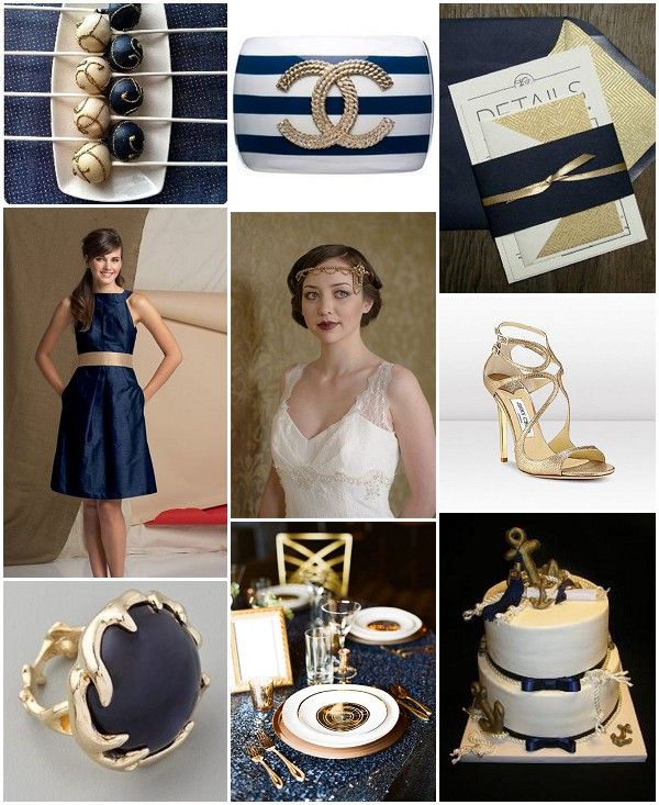 nautical glamour wedding theme