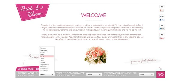 online wedding flower guide