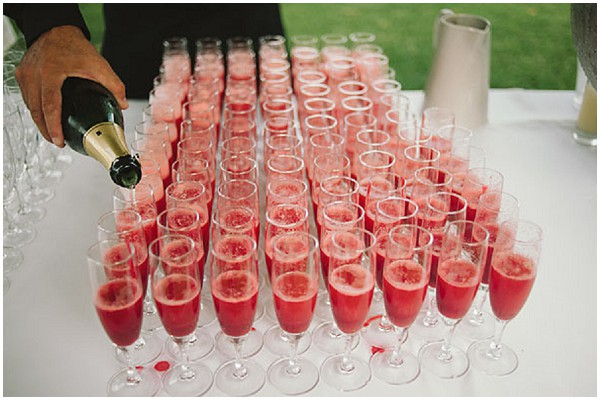 pink wedding  drinks