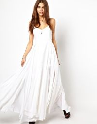 religion white maxi dress