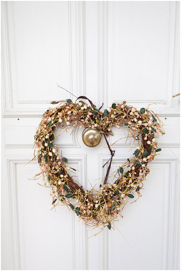 shabby chic wedding heart