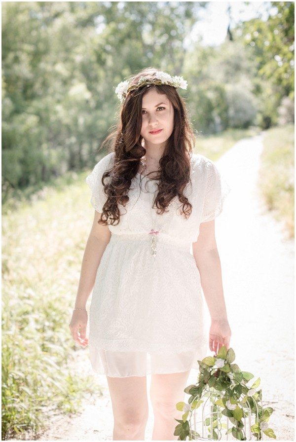 short dress boho bride