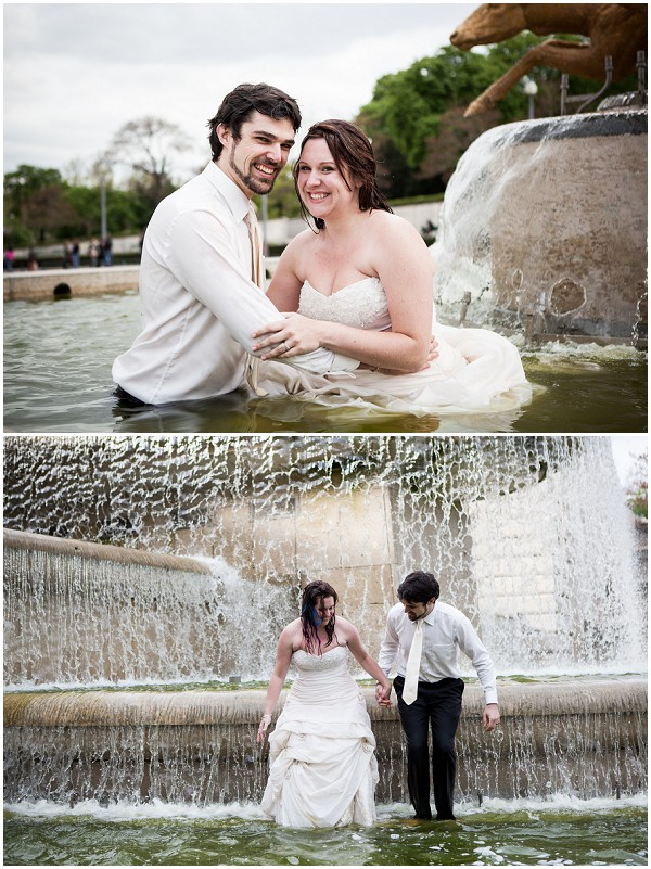 trash the dress fountain