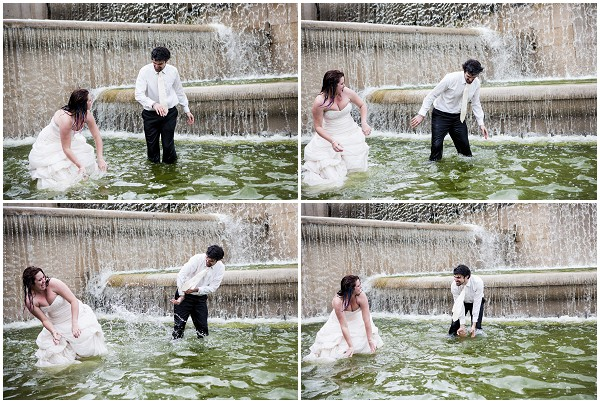 trash the dress waterfight