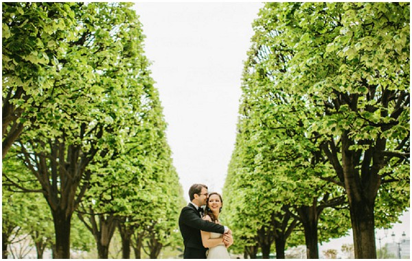 tree lined wedding