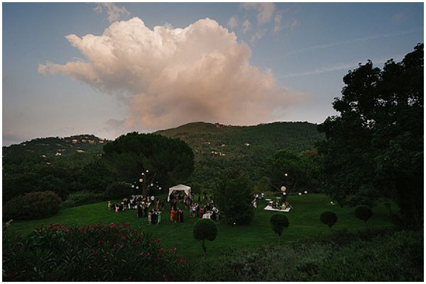 wedding reception countryside