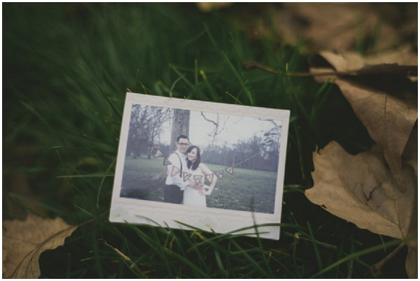 wedding polaroid