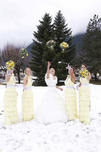yellow white wedding
