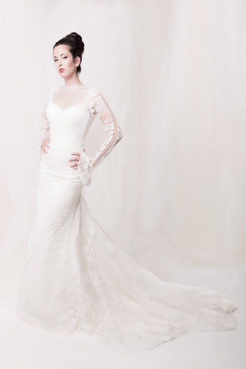 Lace wedding dress Sarah Houston
