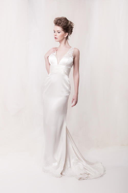 Silk chic wedding dress