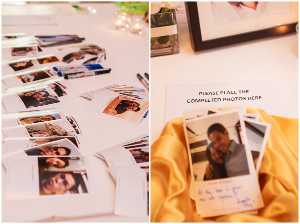 alternative polaroid wedding book