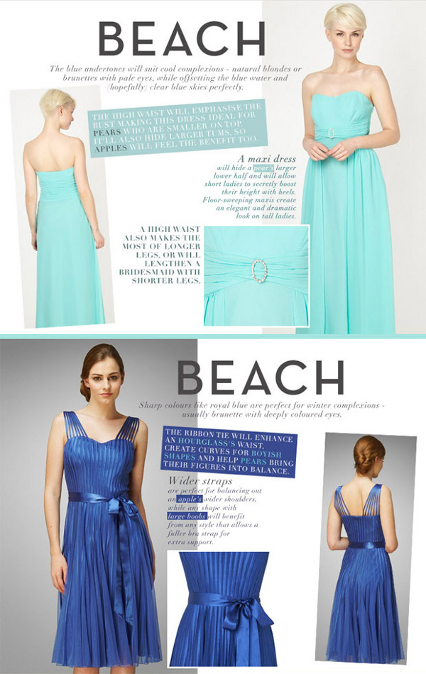 beach inspired bridesmaid dresses