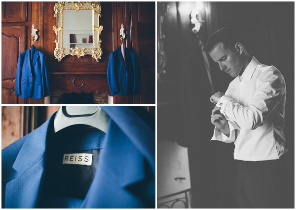 blue reiss grooms suit / © Craig George Photography / French Wedding Style Blog
