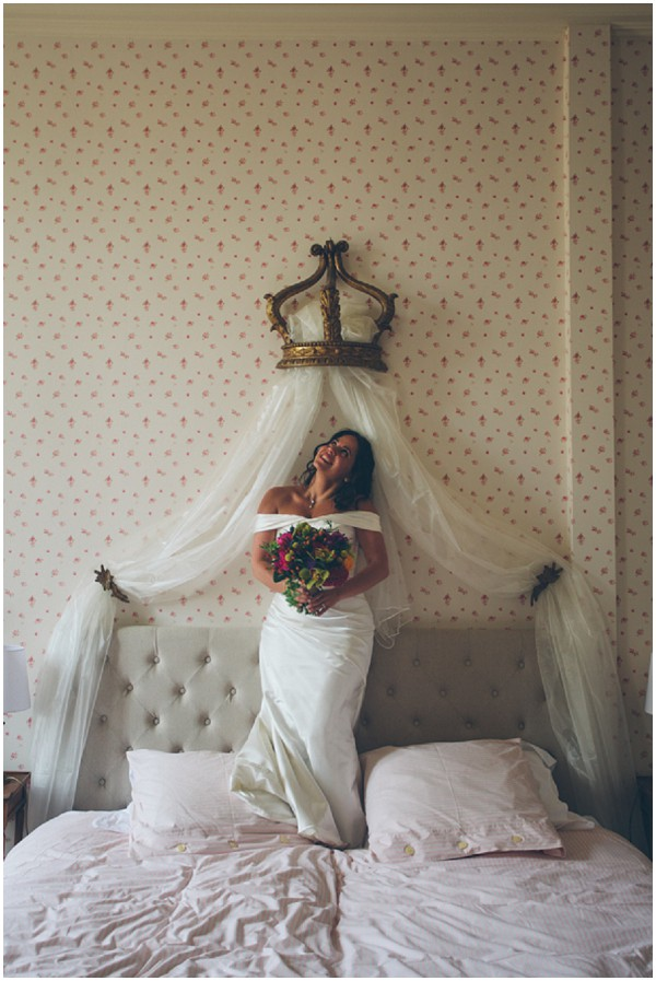 bridal bed crown overhead