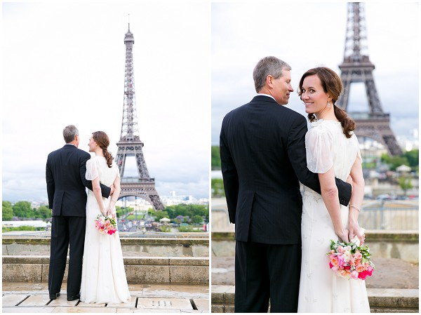 bride groom eiffel tower