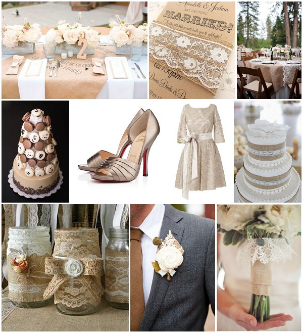 burlap lace wedding ideas