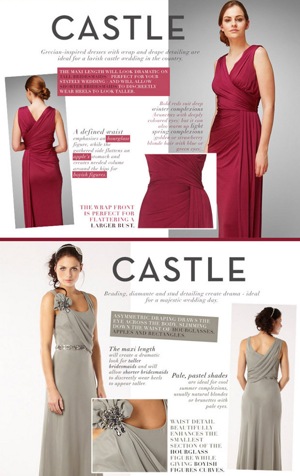 bridesmaid dresses fit for a castle