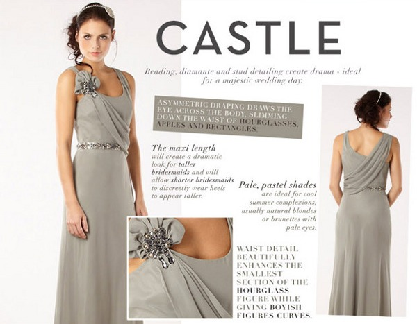 castle bridesmaid style