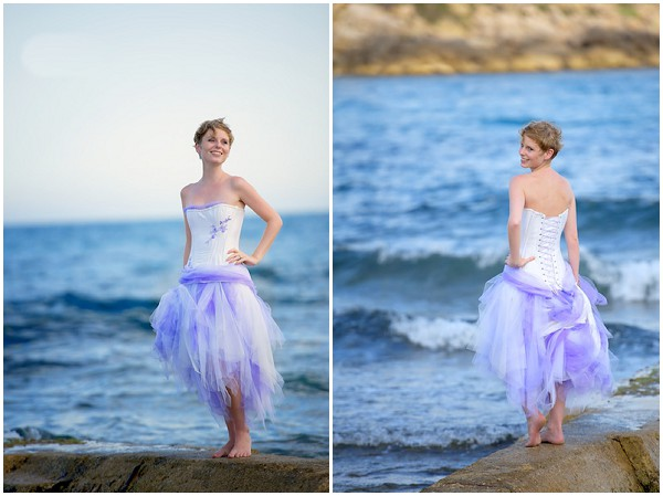 corset lavender skirt weddng dress
