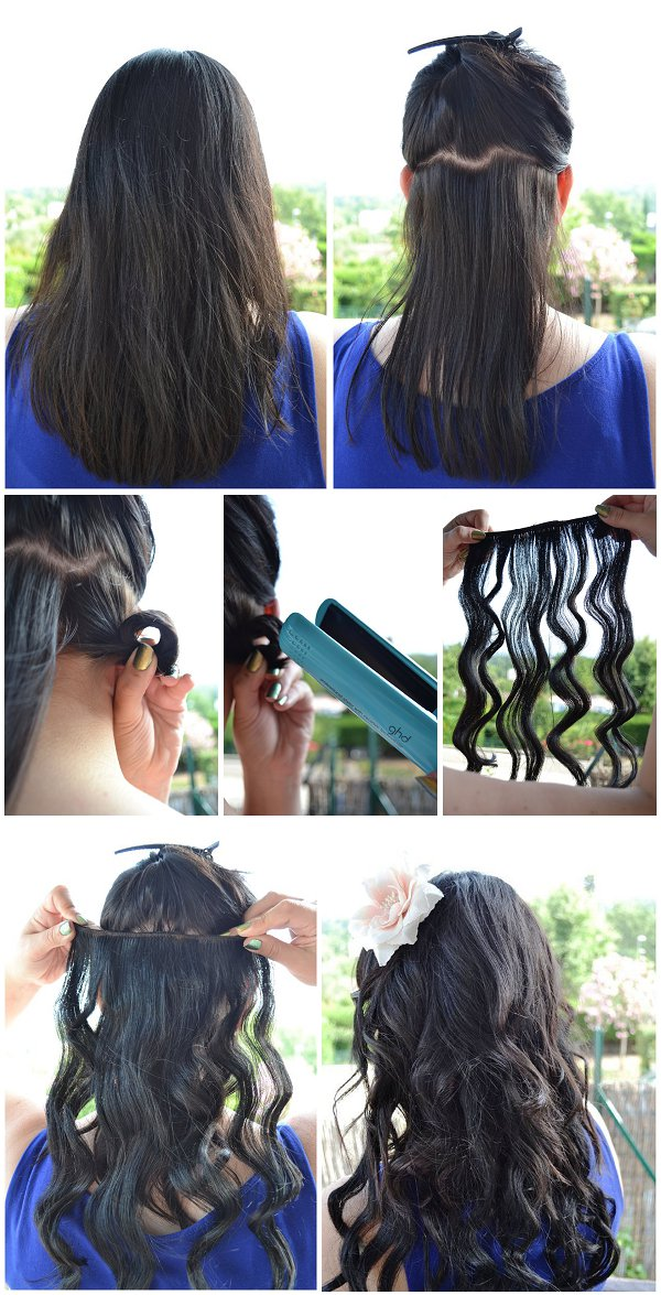 diy beach curls straighteners