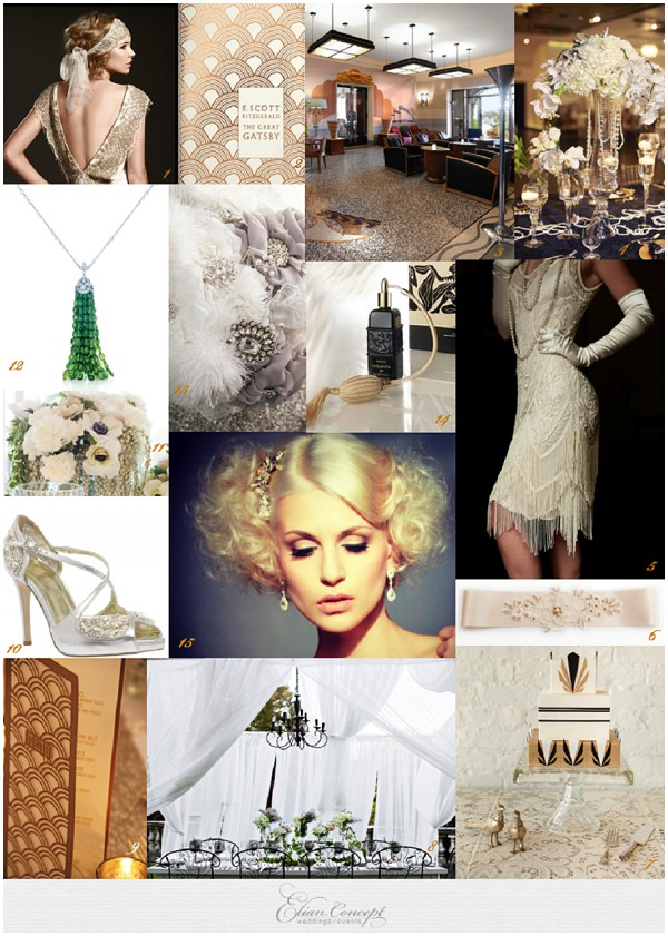 French Riviera Gatsby Wedding Style