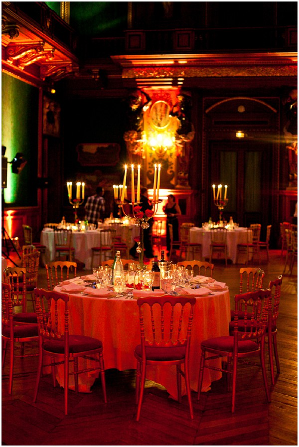 glamour wedding reception