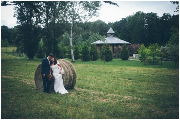 hay bale wedding