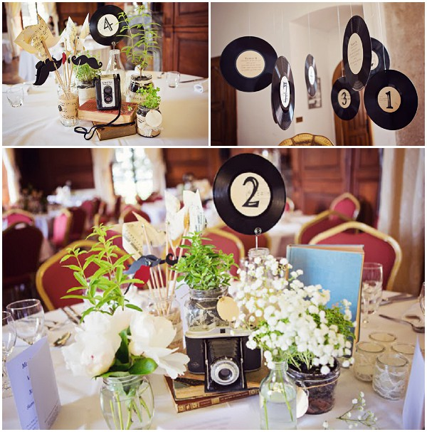 music wedding decor