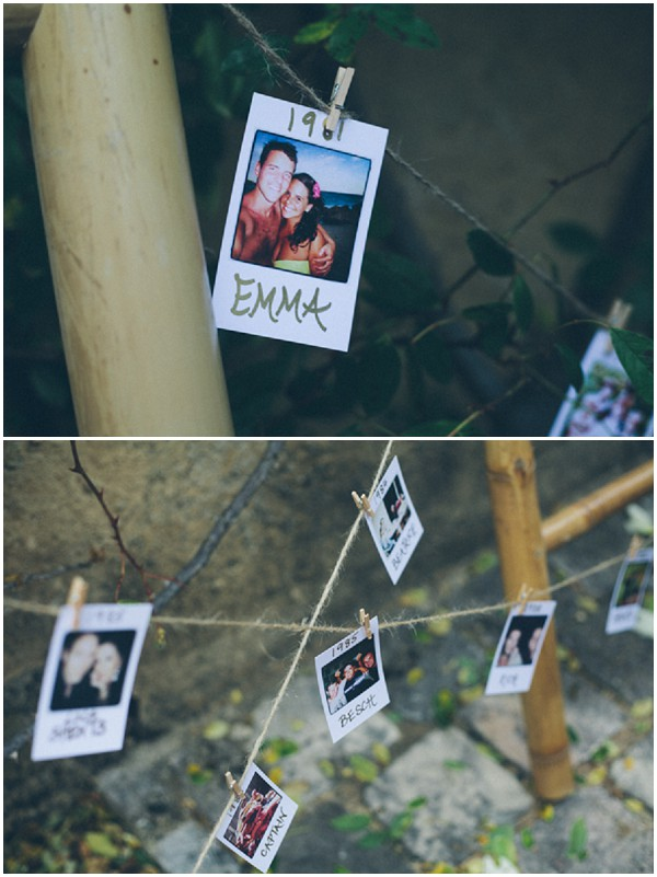 polaroid wedding escort cards