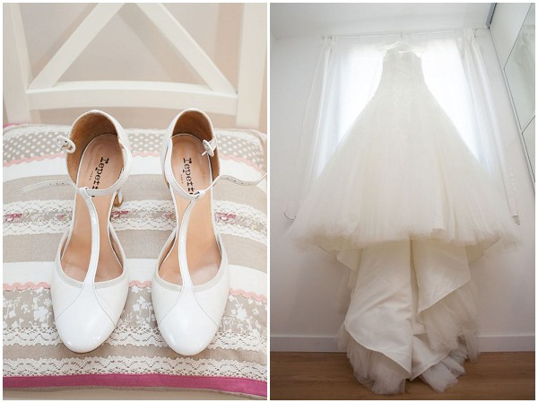 pre-wedding shoes dress